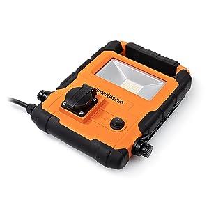 IP54 20W et 1700 lm Prise suppl/émentaire Projecteur de chantier LED Smartwares