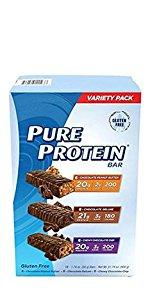 Pure Protein Protein Bar Variety Pack, 18 Count