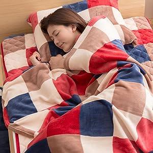 毛布+敷きパッド+枕カバーのセット使いがおすすめ