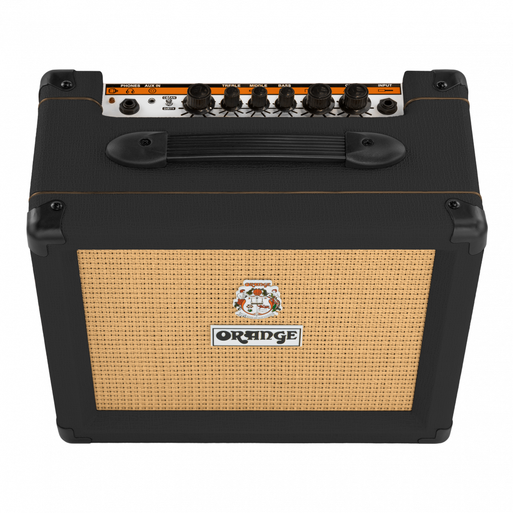 orange crush 20 twin channel 20 w guitar amplifier black musical instruments. Black Bedroom Furniture Sets. Home Design Ideas