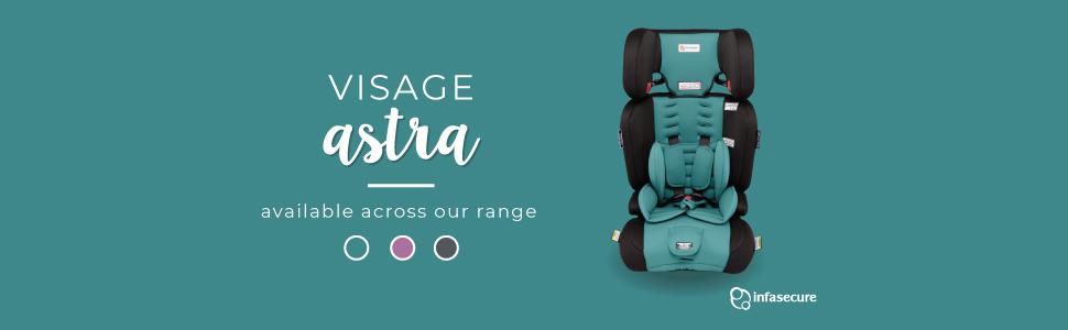 infasecure infa secure astra car seat booster visage aqua