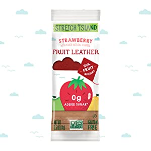 Stretch Island Fruit Co - Fruit Leather Strawberry Pack them in backpacks & anywhere you & yours go