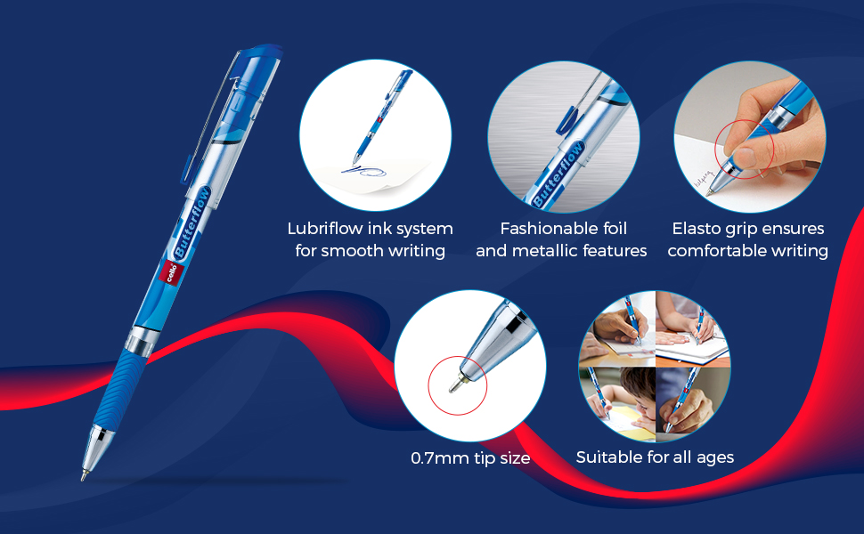 Butterflow Ball Pen   Cheap Pens   Stationery   Pens for School   Best Ball Pens