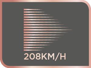 208 km/h, vitesse de souffle