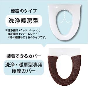 洗浄暖房型用便座カバー