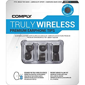 Comply Truly Wireless 3 Ear Adapter For Bluetooth Headphones Size M Medium Black Home Cinema Tv Video