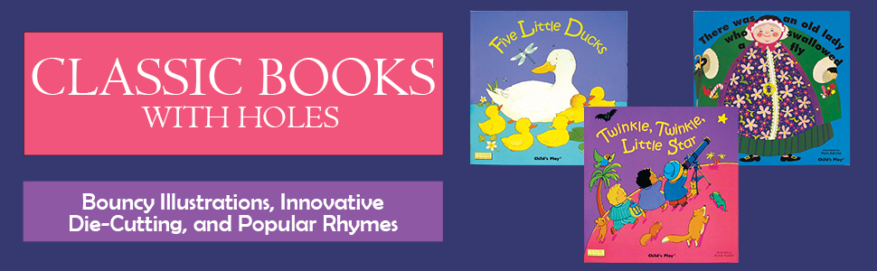 classic books with holes banner