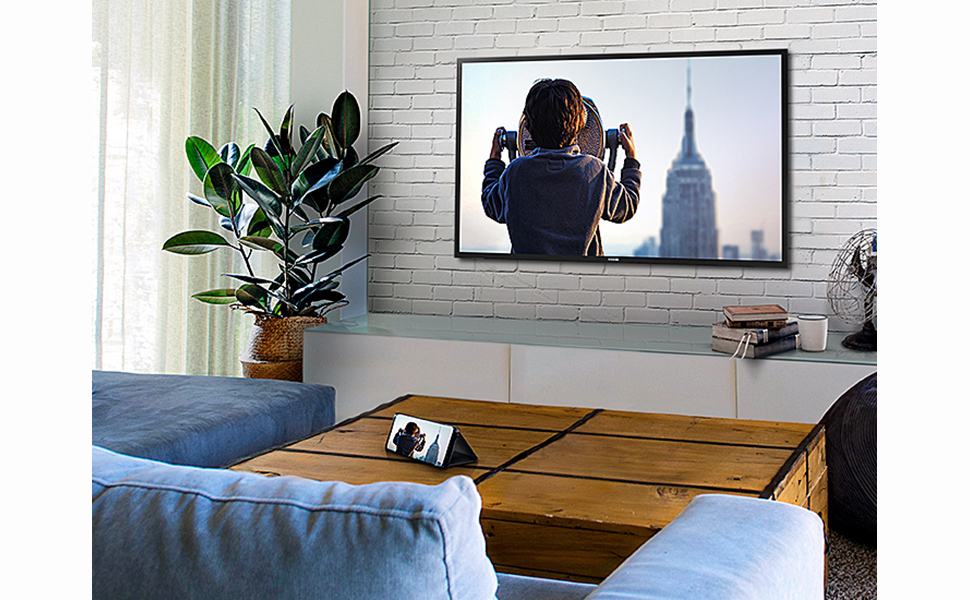 TV and smartphone syncing