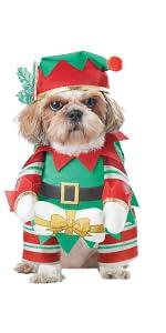 Pet Costume, Dog Costume, Dog Elf, Santa, Mrs. Claus, Christmas Pet Costume, Santa's Helper Dog