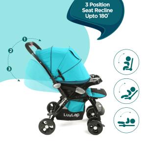 Adjustable 3 Position Seat Recline: