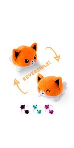 reversible fox plush