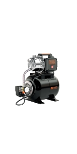 Black+Decker BXGP1100XBE Pompa Autoadescante con  Serbatoio per Acque Chiare 1.100 W, Portata max. 4.600 l//h, Prevalenza max. 45 m