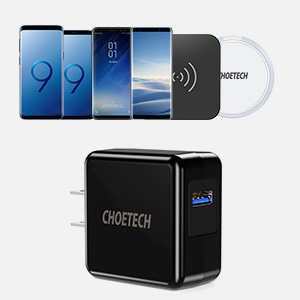 Quick Charge 3.0, CHOETECH 18W USB Wall Charger for Samsung Galaxy S10/S9/S8/S7/S6/Edge/Plus, Note 9/8/7/6, LG G6/V30, HTC 10, Nexus 5/6, Pixel, ...