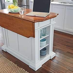 Giving You The Storage You Always Wanted The Home Styles Kitchen Island  Will Be The Go To Spot In Your Kitchen. Featuring A Flip Up Snack Bar For  Quick ...