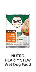 Nutro Hearty Stews Wet Dog Food, Soft Dog Food, Canned Dog Food, Cans, Protein, Meat