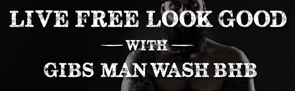 man wash