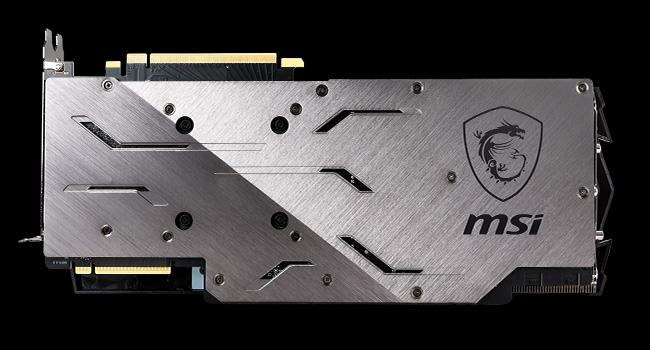 MSI RTX 2080 Turing GPU Back Plate