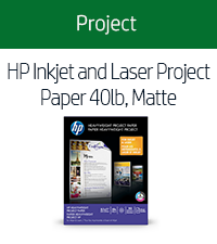 HP Inkjet and Laser Project Paper 40lb, Matte