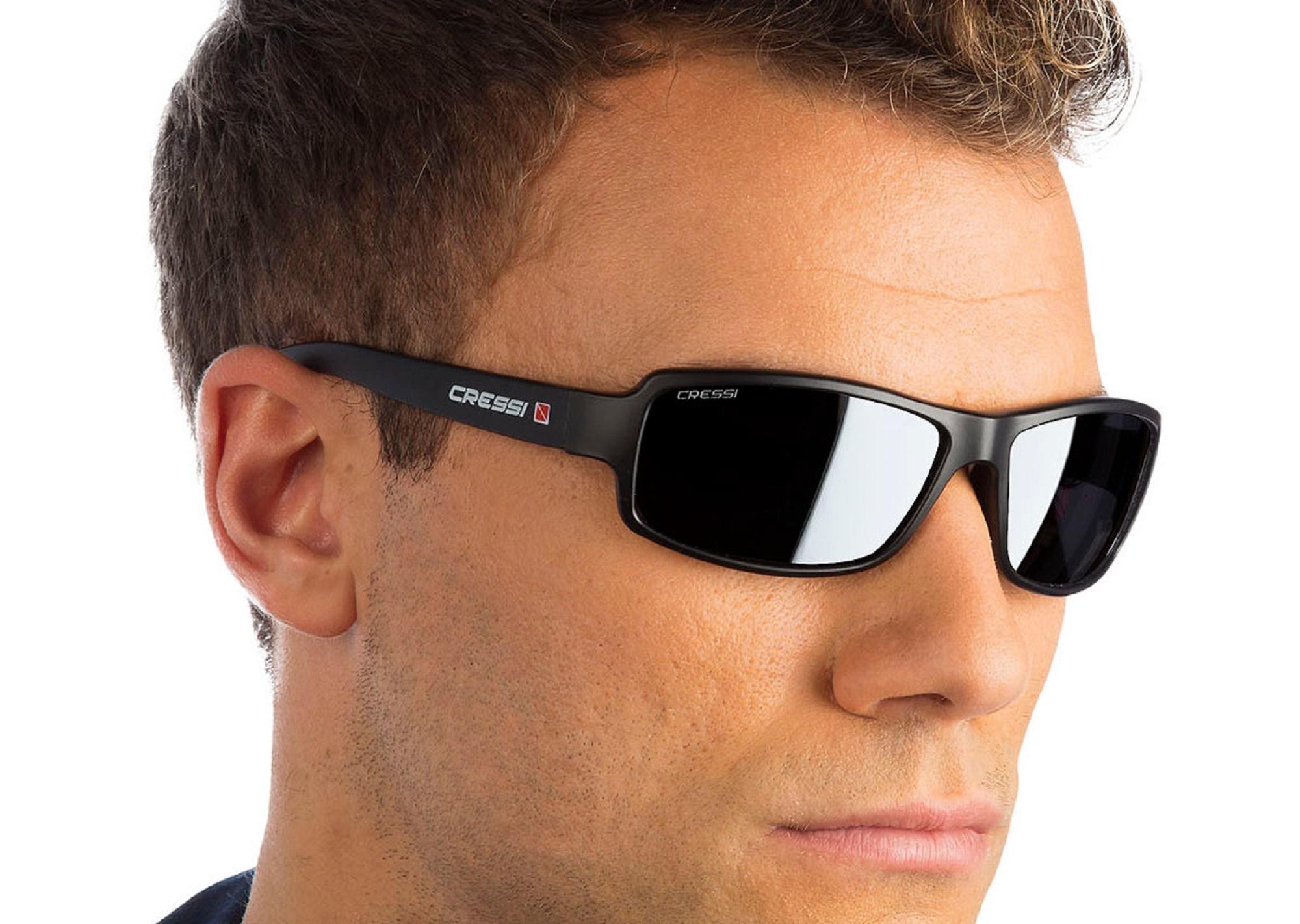 Cressi Ninja Floating Sonnenbrille, Glänzend Schwarz, Uni