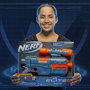 Nerf Elite 2.0 Phoenix cs-6; pistola nerf fénix; pistola nerf elite stryfe; pistolas de dardos nerf