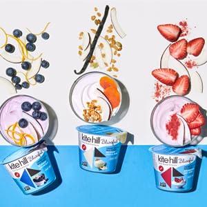 Kite Hill, greek yogurt, high protein, low sugar