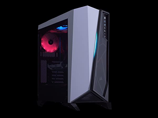 CORSAIR Carbide SPEC-Omega RGB Mid-Tower Gaming Case, 2 RGB Fans, Lighting Node PRO Included, Tempered Glass- Black