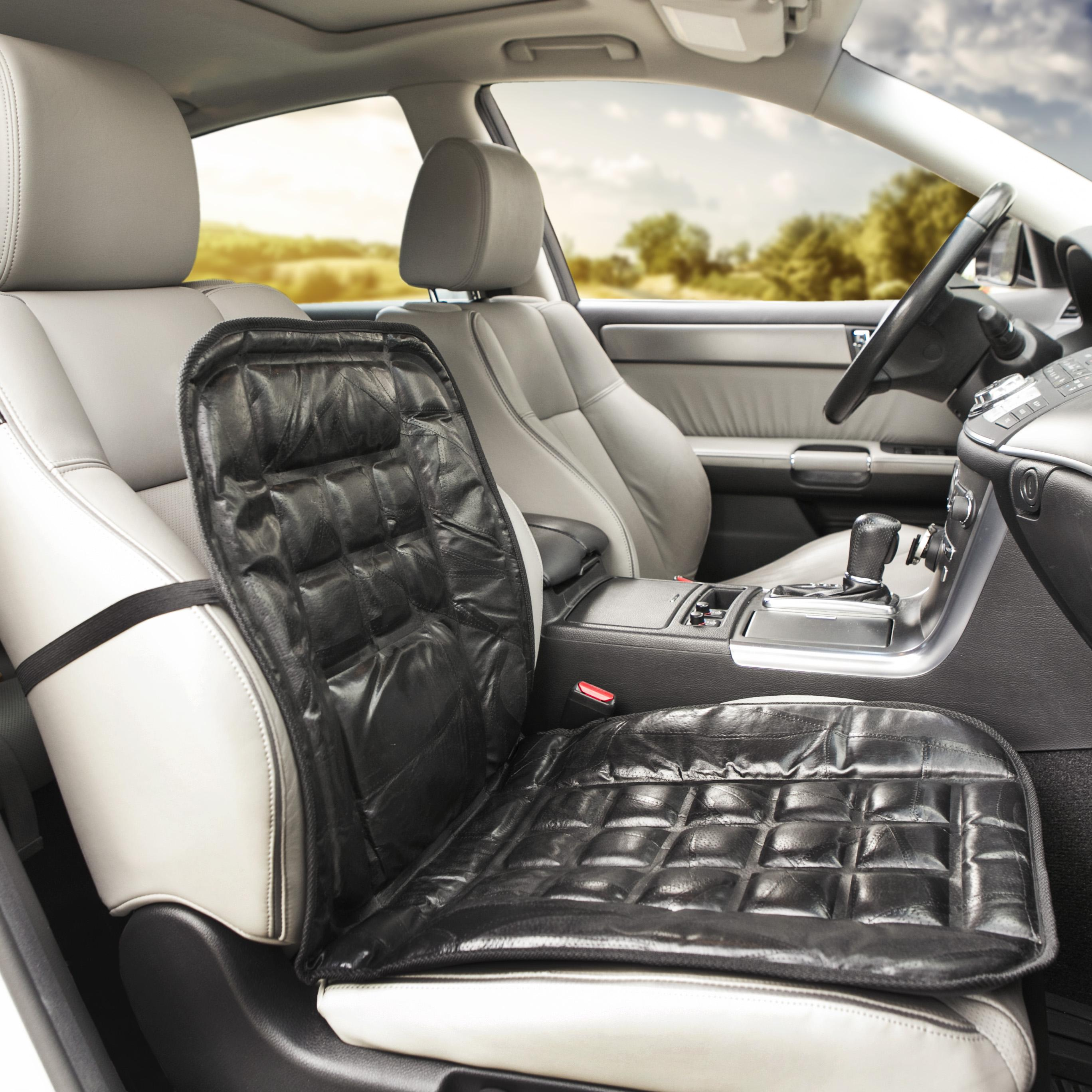 amazon com wagan in9615 leather lumbar support cushion automotive