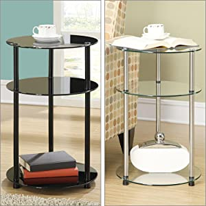 glass furniture side table