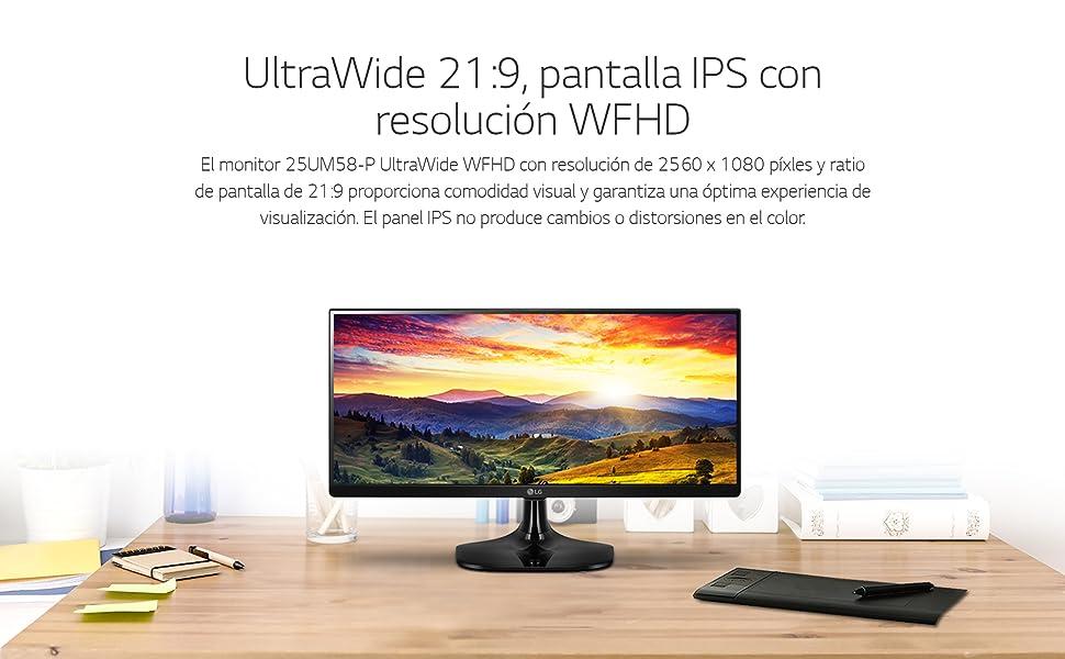 LG 25UM58-P - Monitor Profesional UltraWide WFHD de 63.5 cm (25 ...