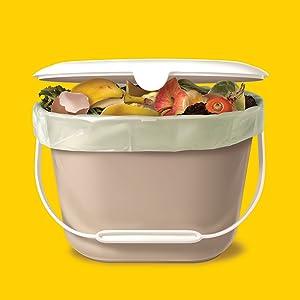 glad compost, glad organic bin, glad food waste, food waste bag, organic waste bag