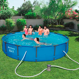 piscina instalacion jardin