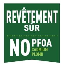 Revêtement sain sans PFOA ni cadium ni plomb