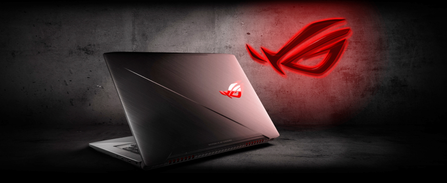 "ASUS ROG STRIX GL703VD 17 3"" Gaming Laptop, GTX 1050 4GB, Intel Core i7 2 8  GHz, 16GB DDR4, 1TB FireCuda SSHD, RGB Keys"