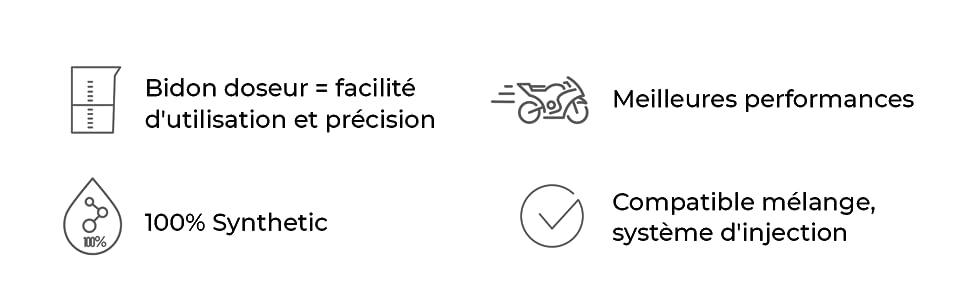 Bidon doseur précision & facilité d'utilisation performance - 100% synthétique - compatible mélange