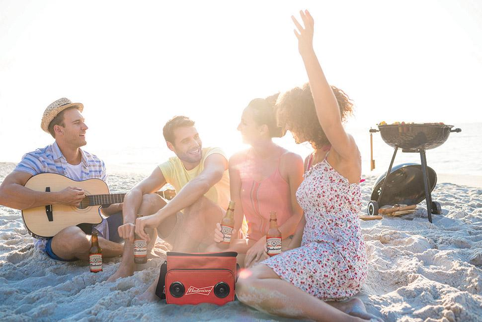 how to connect budweiser bluetooth speaker