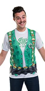 faux real, st. patty's, st. patrick's day, costume, t-shirt, hoodie, leggings, men's costume, mens