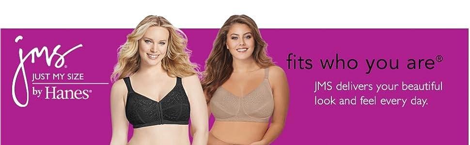 1d4d97923e08f Just My Size Women s Comfort Strap Minimizer Soft Cup Plus Size Bra ...