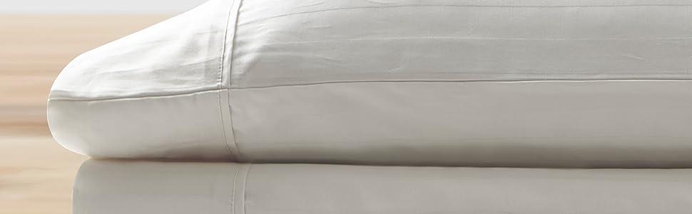 Pillowcase closeup image, white