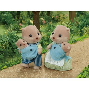 Amazon.co.jp: シルバニアファミリー 人形 カワウソファミリー 4.3x3 ...