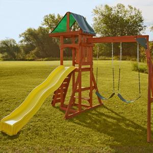scrambler swing set swingset playset play set wooden swing set