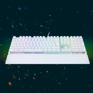 Newskill Serike Ivory Teclado Mecánico Gaming RGB con más de 11 Efectos de Iluminación RGB, Grabación de Macros y Tecnología Anti-Ghosting - Switch ...