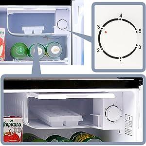 温度調節5段階アイリスオーヤマ 冷蔵庫 42L 小型 静音 1ドア NRSD-4A-B