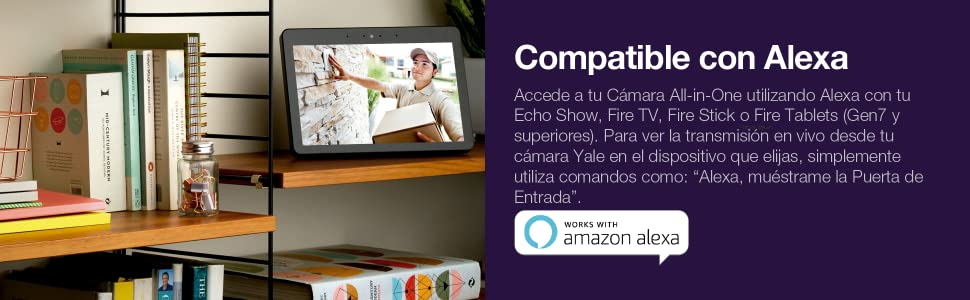 Yale SV-DAFX-W EU - Cámara All-in-1 para Interior y Exterior, 1080P, con WiFi, Impermeable (IP65), Audio bidireccional, detección de Movimiento, Sirena integrada (Compatible con Amazon Alexa): Amazon.es: Bricolaje y herramientas
