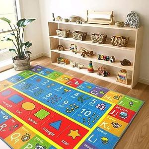 ABC learning rug daycare rug fun rug educational rug play rug  indoor and outdoor rug
