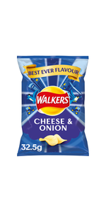 walkers cheese and onion crisps