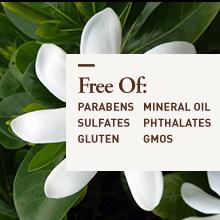 free of parabens sulfates gluten gmos mineral oil phthalates gmos