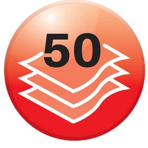 50 hojas de capacidad