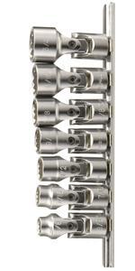 "Genius Tools 7PC 3/8"" Dr. SAE Universal Hand Socket Set (12-Point) - US-307S"