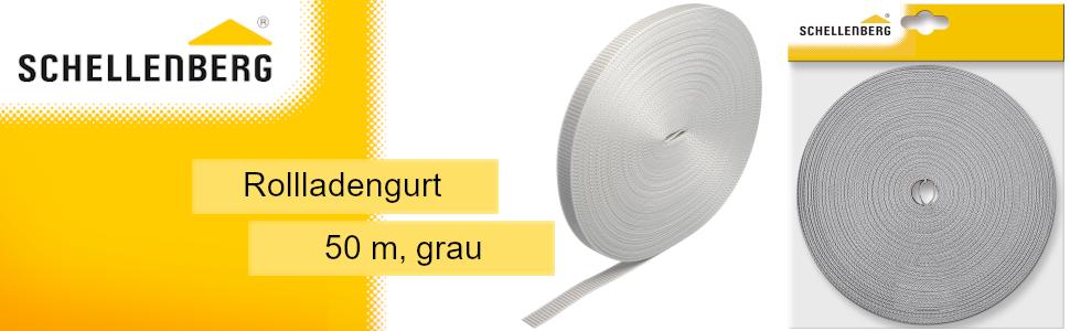Rollladengurt System MAXI Schellenberg 11033 Gurtf/ührung Plus f/ür Rolladen Gurtband verringert den Verschlei/ß von Gurten