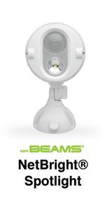 mr beams netbright, networked security light, wireless security light, motion spotlight